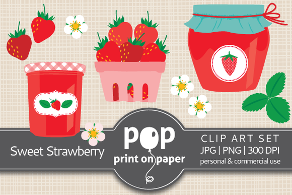 Sweet Strawberry 14 PNG Clip Art