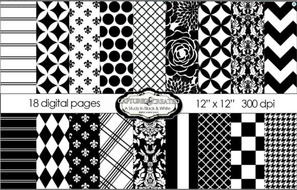 Black White Mega Paper Pack