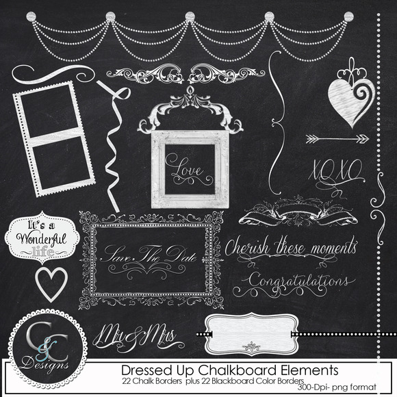 44-Dressed Up Chalkboard Elements