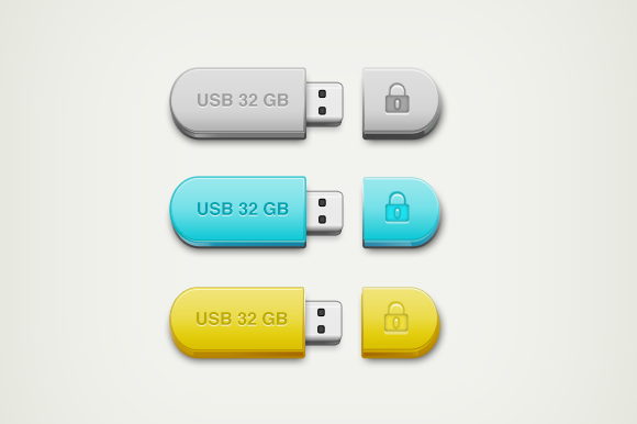 Colourful USB Drive Icon