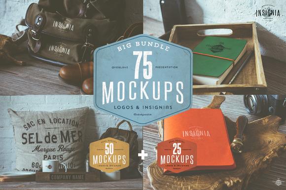 75 Hip Logo Overlay Mock-Ups BUNDLE