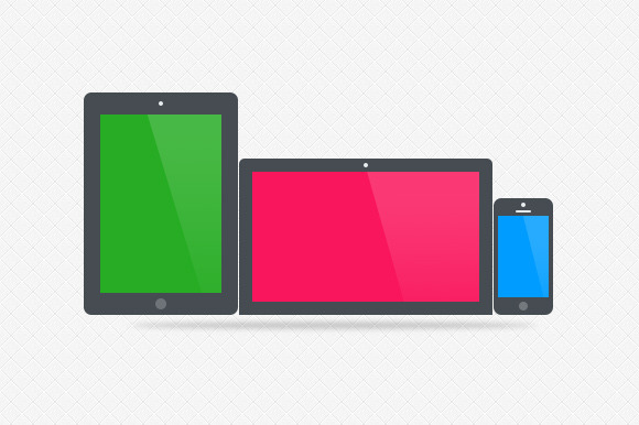3 Flat Apple Product Graphics