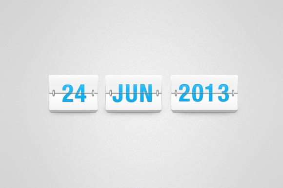 Clean Flip Time Date Board