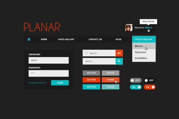 Planar UI Kit
