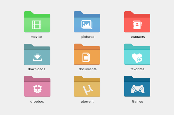 9 Windows Style Folder Icons