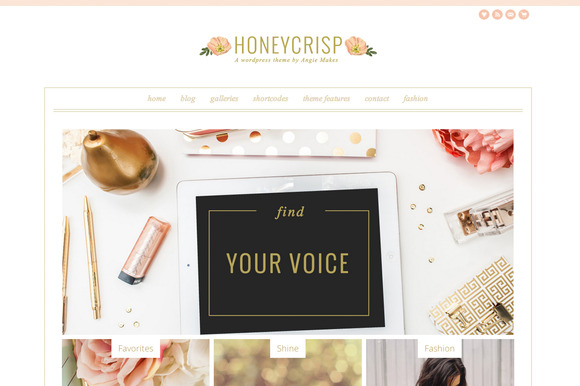 Honeycrisp- A Pretty Wordpress Theme