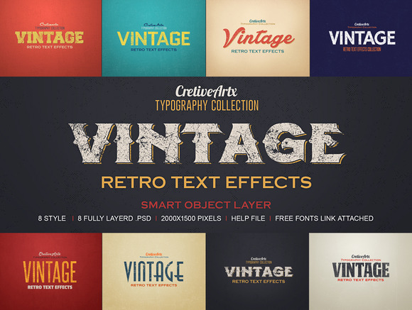 Vintage Retro Text Effects 3