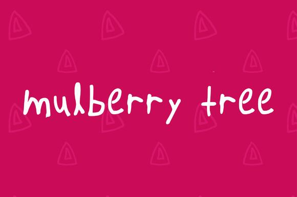 Handwritten Font-Mulberry Tree