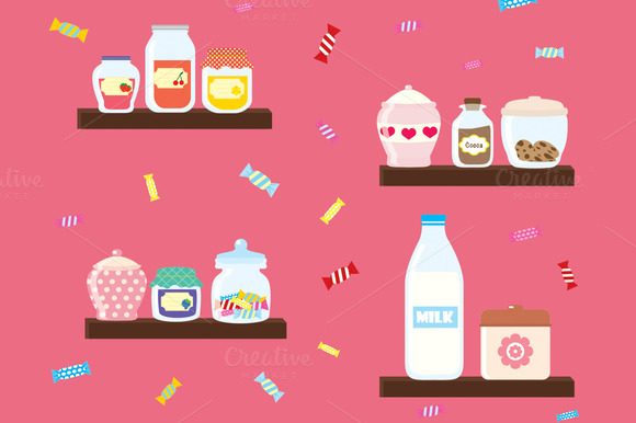 Colorful Jars And Sweets