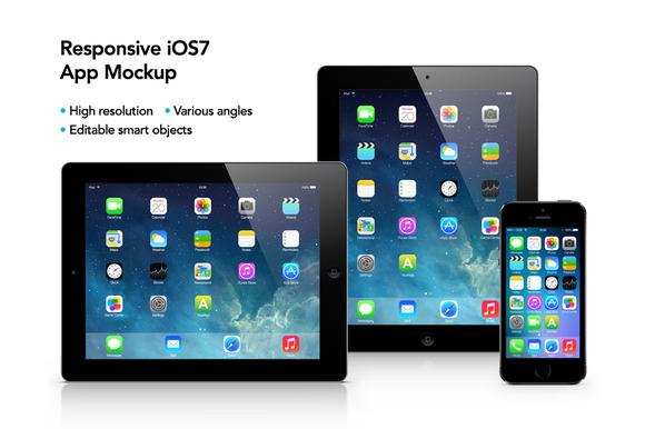 Responsive IOS7 App Mockup