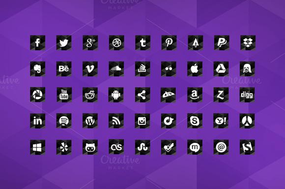 Geometric Social Media Icons