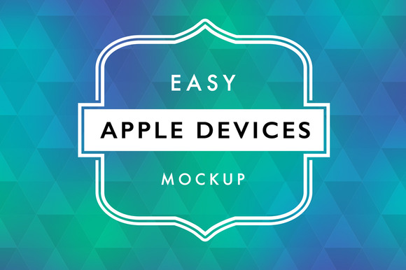 5 Easy Apple Devices Mockup Package