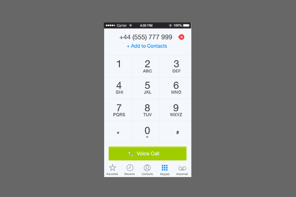 Dialpad Interface