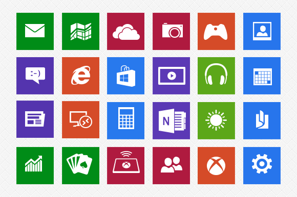 18 Windows 8 Icons