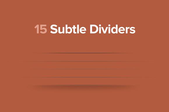 Subtle Dividers