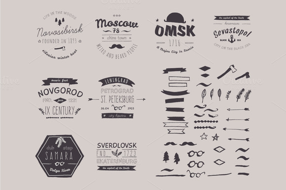 6 Hand Drawn Style Logos