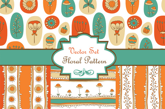 Vector Set Floral Pattern
