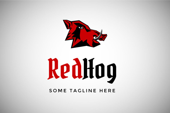 Red Hog Logo Template