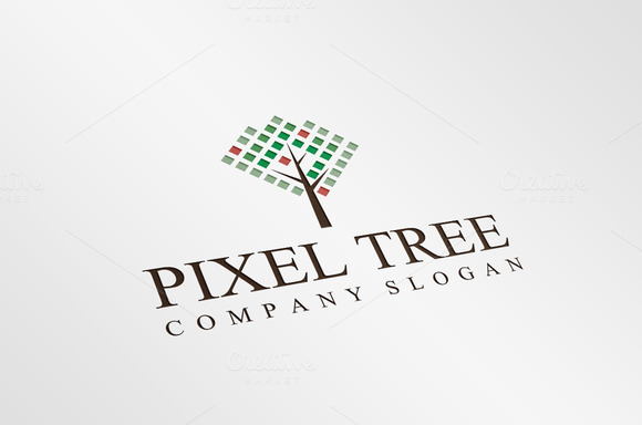 Exclusive Pixel Tree Logo Template