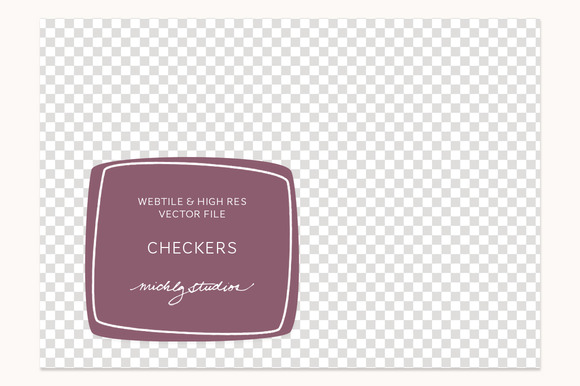 VECTOR PSD Checker Tile Pattern