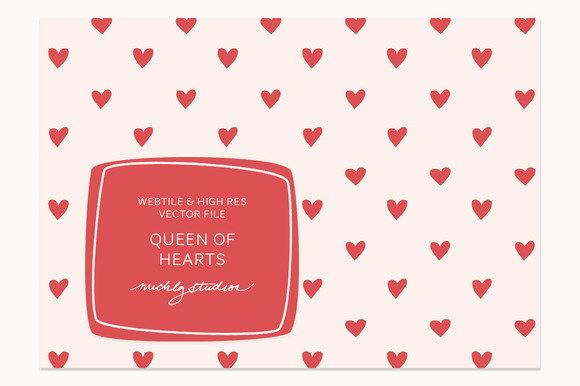 VECTOR PSD Hearts Tile Pattern