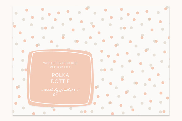 VECTOR PSD Polka Dot Tile Patter