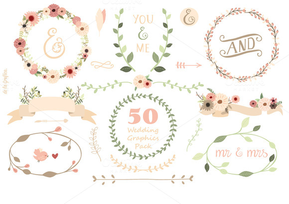 50 Weddig Graphics Pack