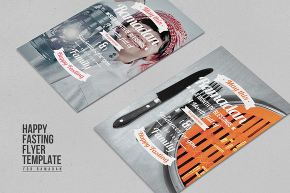 Happy Fasting Flyer Template
