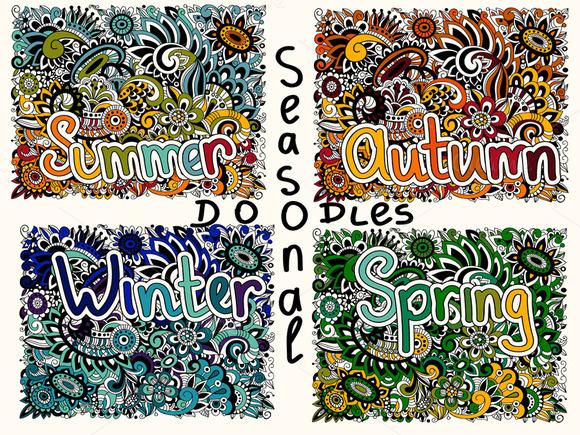 Vector Seasonal Doodles