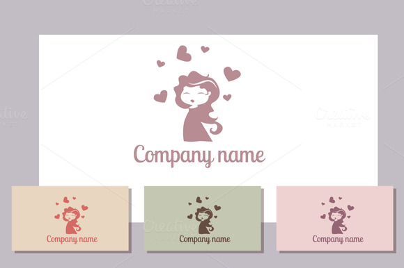 Romantic Girl Logo Template