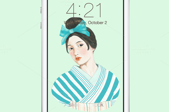 Kimono Girl Wallpaper