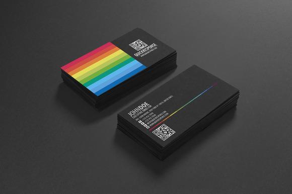 Rainbow QR Code Business Card