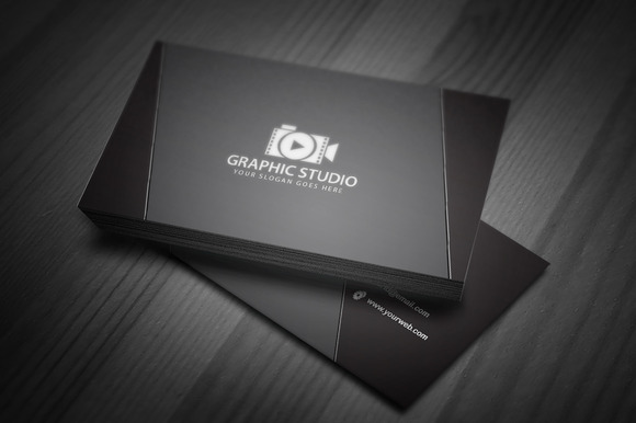 Dark Black Exclusive Business Card