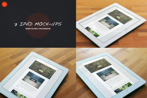 7 Photorealistic IPad Mock-Ups