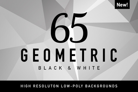 65 Geometric Black And White Polygon
