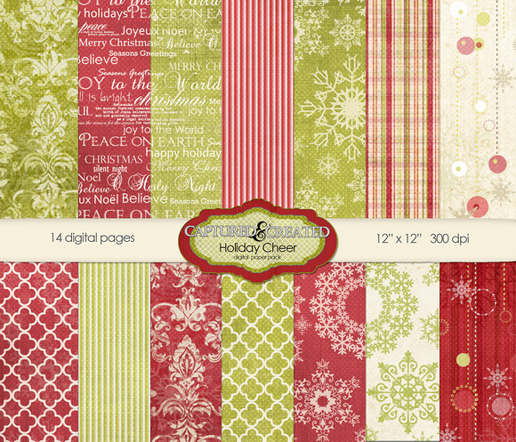 Holiday Cheer Digital Paper Pack