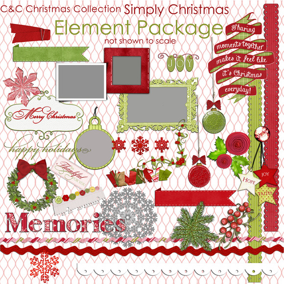 Simply Christmas 37-Elements Clipart