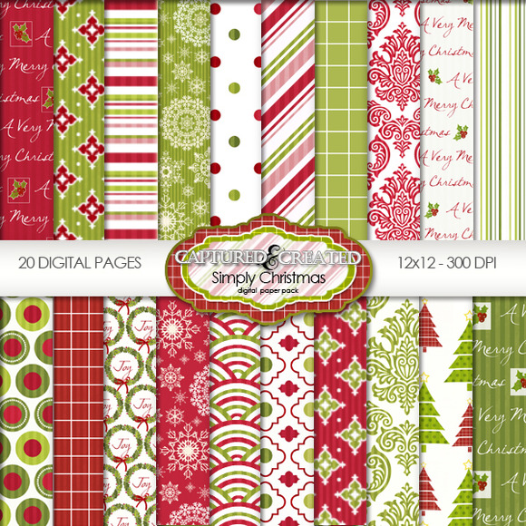 Simply Christmas Mega Digital Paper