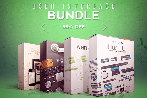 SALE 4 User Interface Packs Bundle