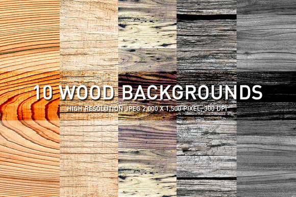 10 WOOD BACKGROUNDS