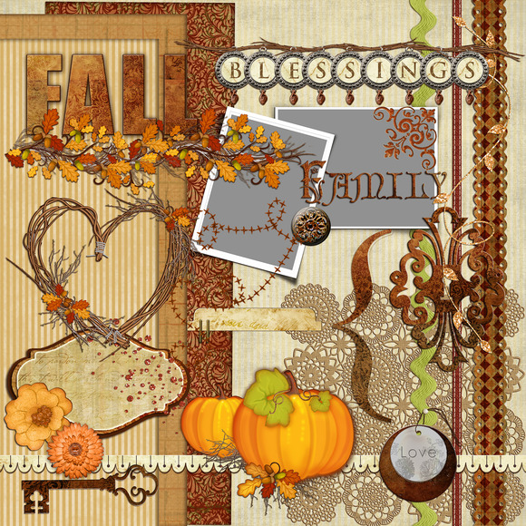 30-Fall Elements Clipart Pack