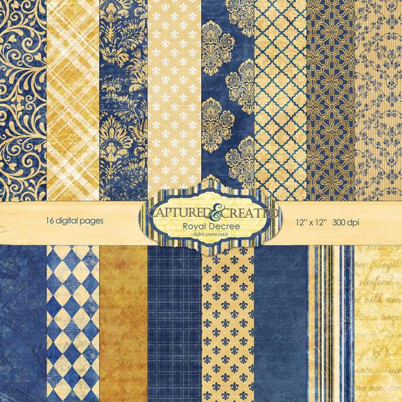 Royal Decree Blue And Gold Digi Pack