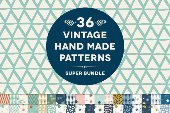 36 Vintage Hand Made Patterns Bundle