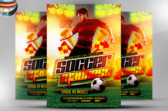 Soccer Madness Flyer Template