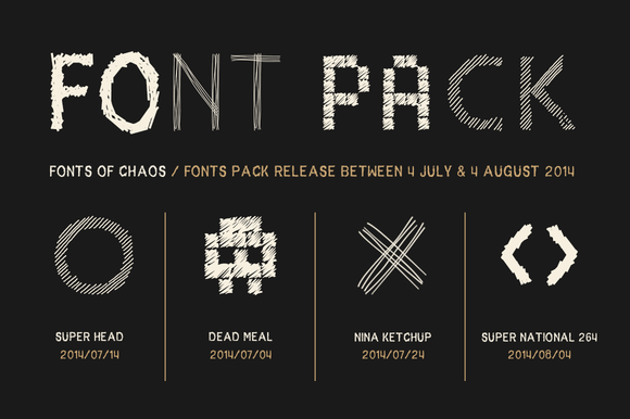 The Fantastic 4 Fonts Pack