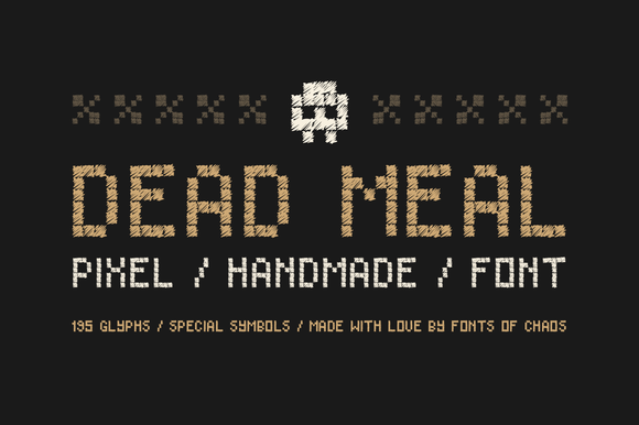 Dead Meal Hand Drawn Pixel Font