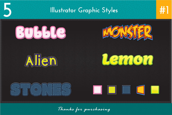 5 Illustrator Graphic Styles #1