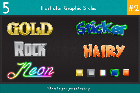 5 Illustrator Graphic Styles #2