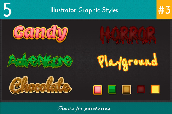5 Illustrator Graphic Styles #3