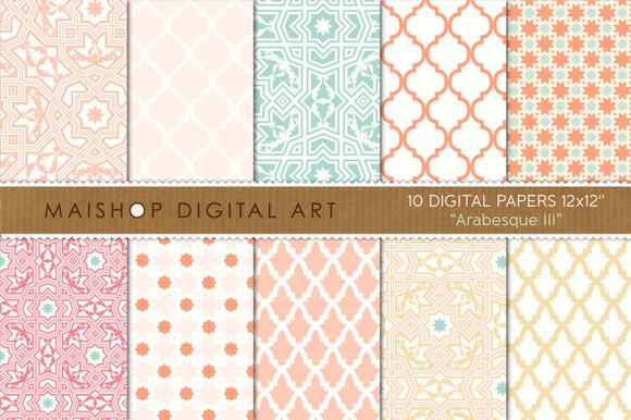 Digital Paper-Arabesque III
